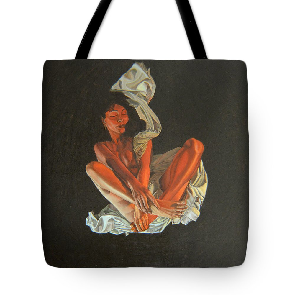 Semi-nude Tote Bag featuring the painting 2 30 Am by Thu Nguyen