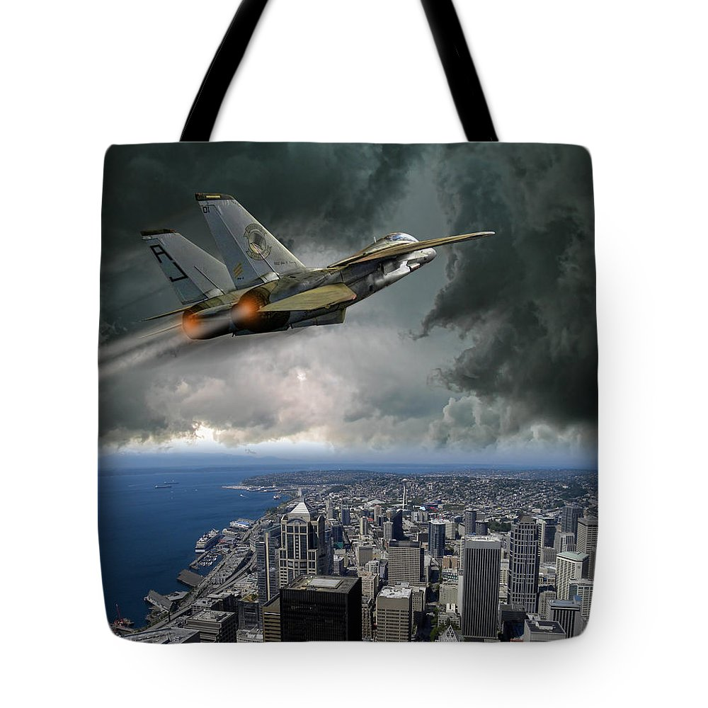 Jet Tote Bag featuring the photograph 3078 by Peter Holme III
