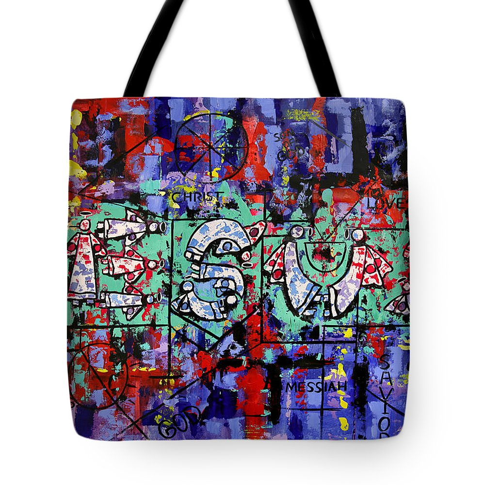 Above All Names Framed Prints Tote Bag featuring the painting Above All Names by Anthony Falbo