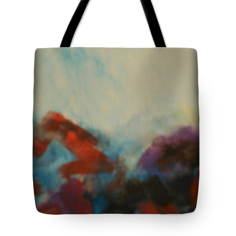 Abstract Tote Bag featuring the painting Abstract by Lord Frederick Lyle Morris - Disabled Veteran