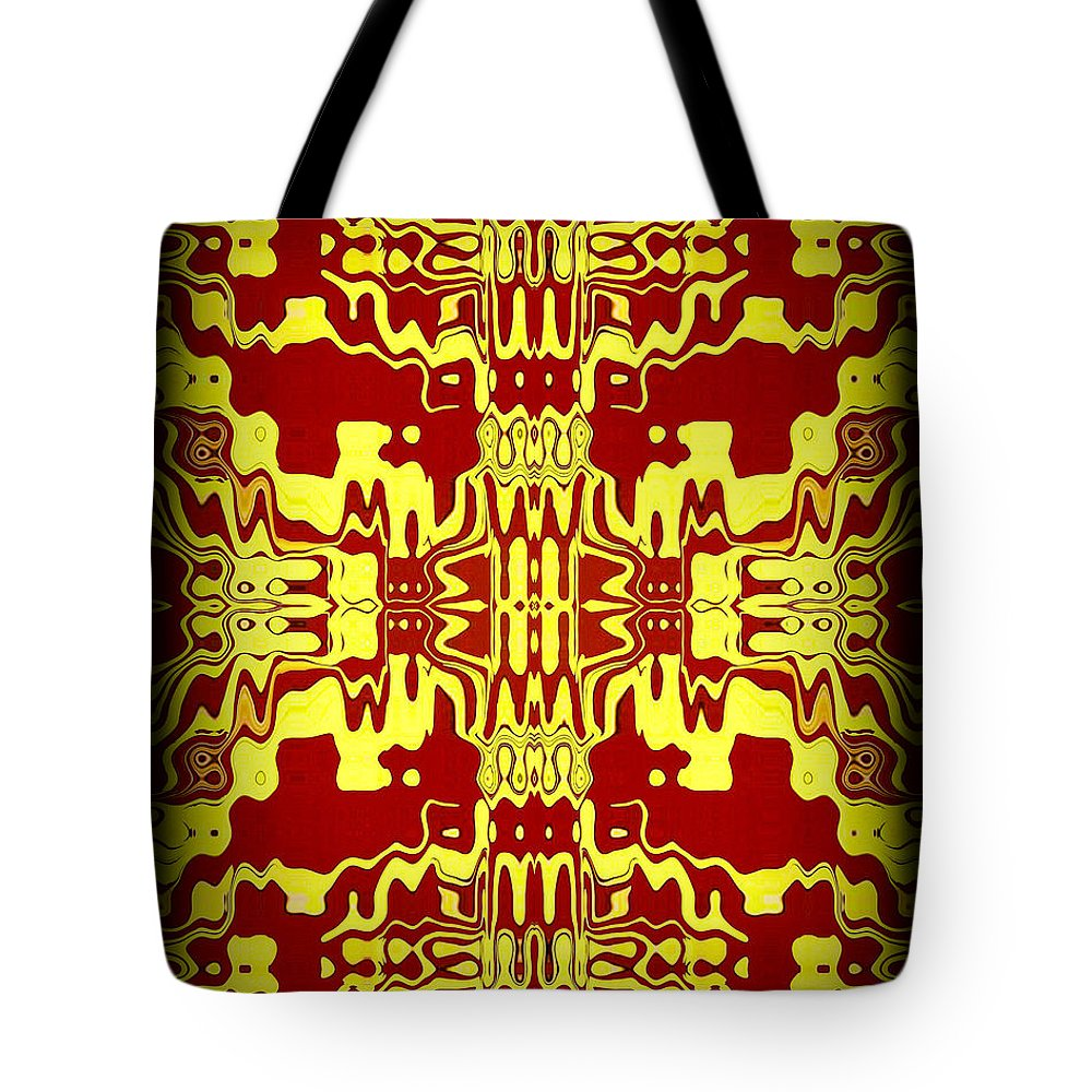 Original Tote Bag featuring the painting Abstract Series 3 by J D Owen