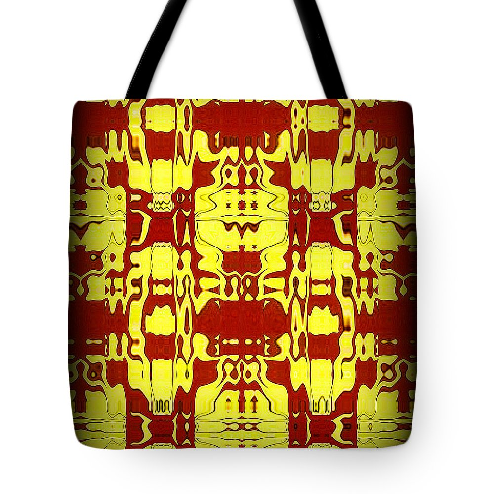 Original Tote Bag featuring the painting Abstract Series 6 by J D Owen