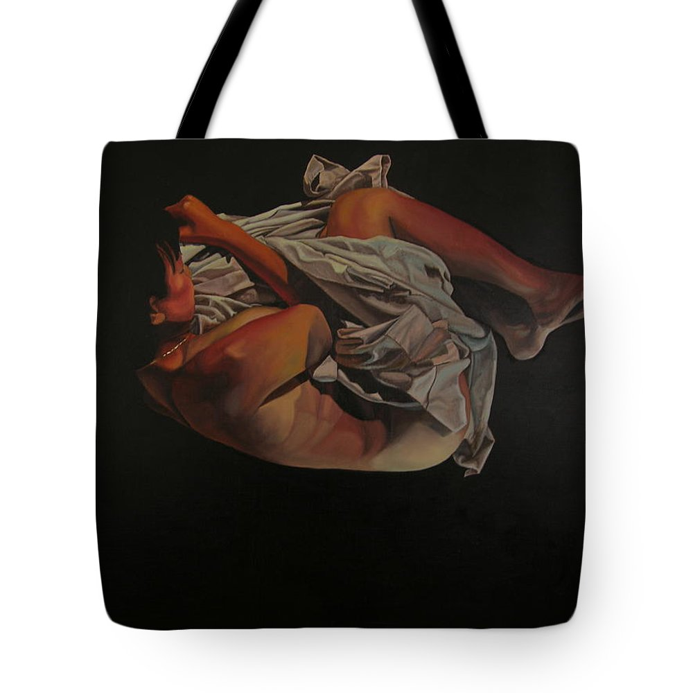 Semi_nude Tote Bag featuring the painting 2 Am by Thu Nguyen