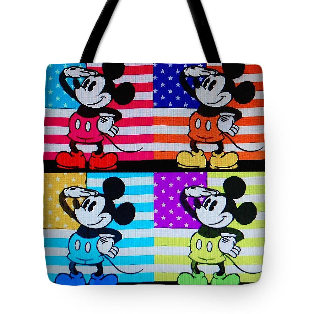 Mickey Mouse Tote Bag featuring the photograph American Mickey by Rob Hans