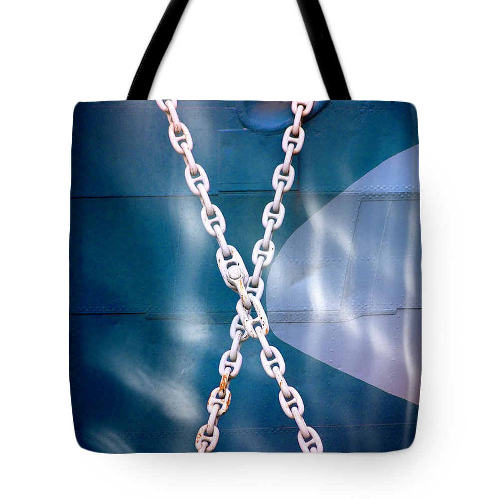 Art Tote Bag featuring the photograph Anchored by Richard Piper