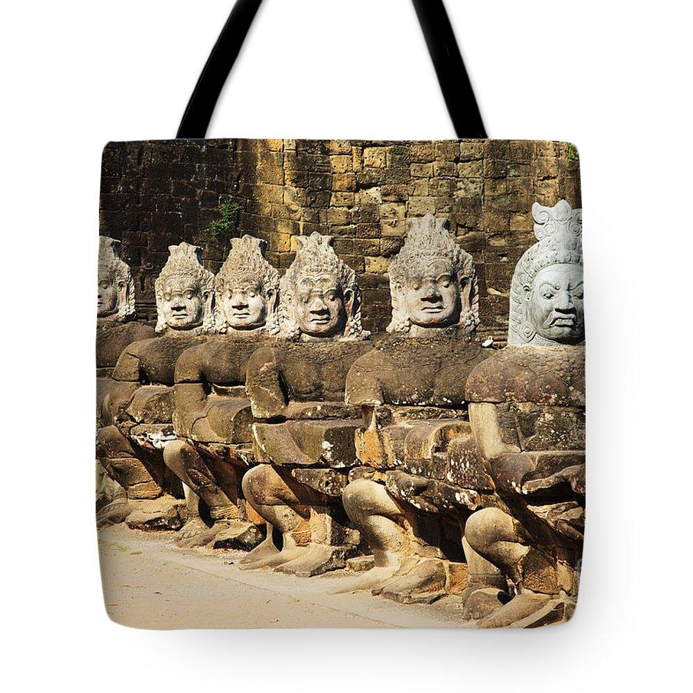 Ancient Tote Bag featuring the photograph Angkor Thom by David Davis