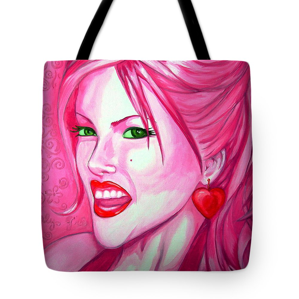 Anna Nicole Tote Bag featuring the painting Anna by Holly Picano