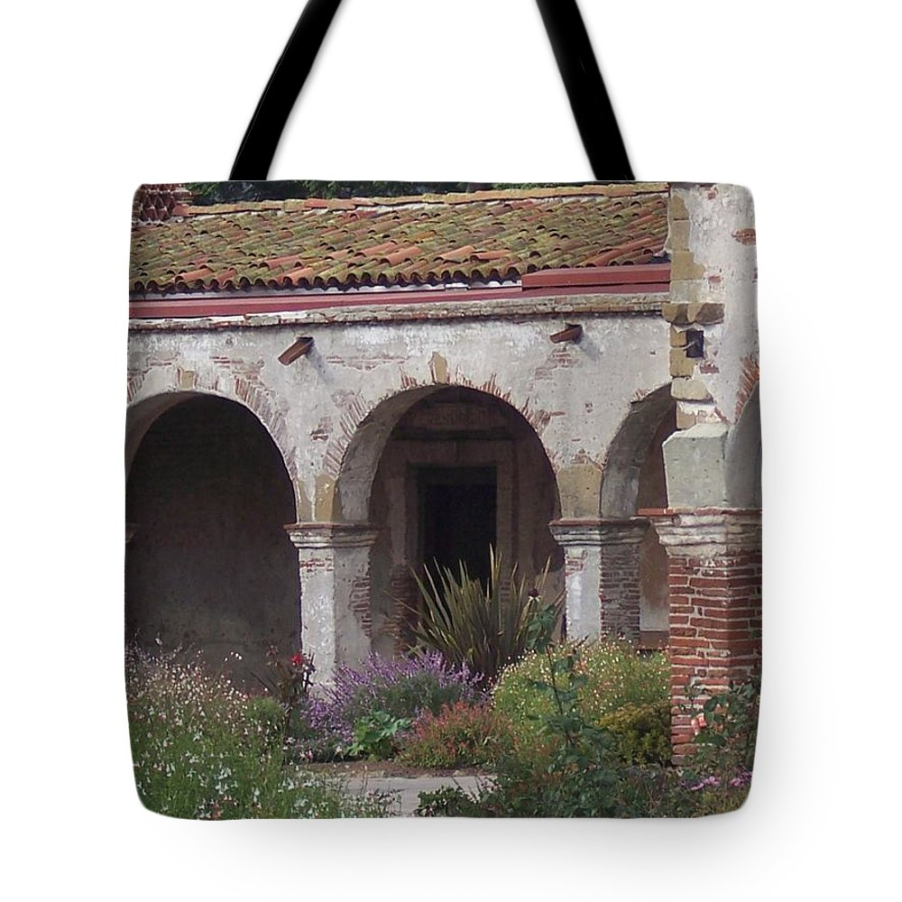 California Mission Tote Bag featuring the photograph Arches San Juan Capistrano by Kimberly-Ann Talbert