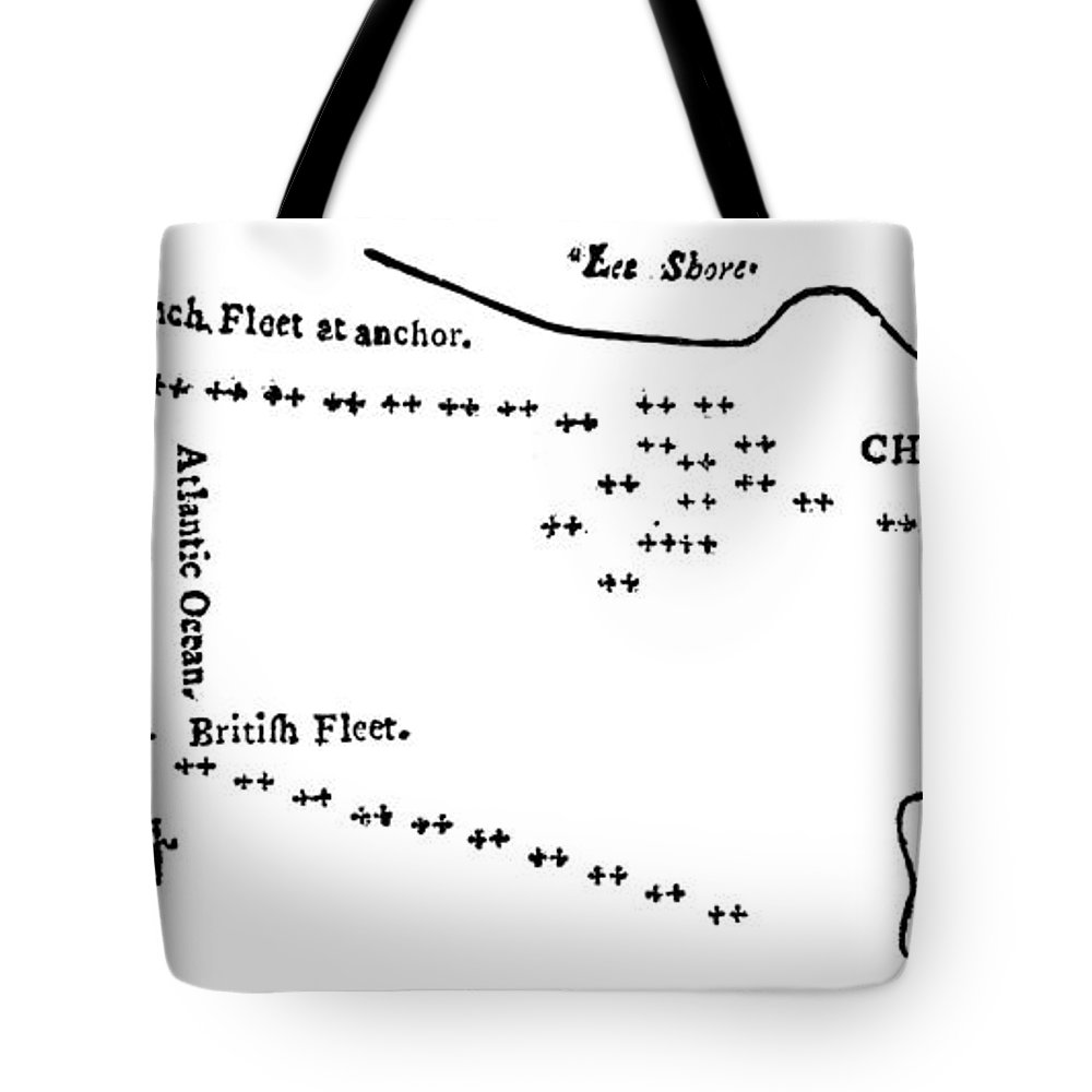 1781 Tote Bag featuring the photograph Battle Of Virginia Capes by Granger