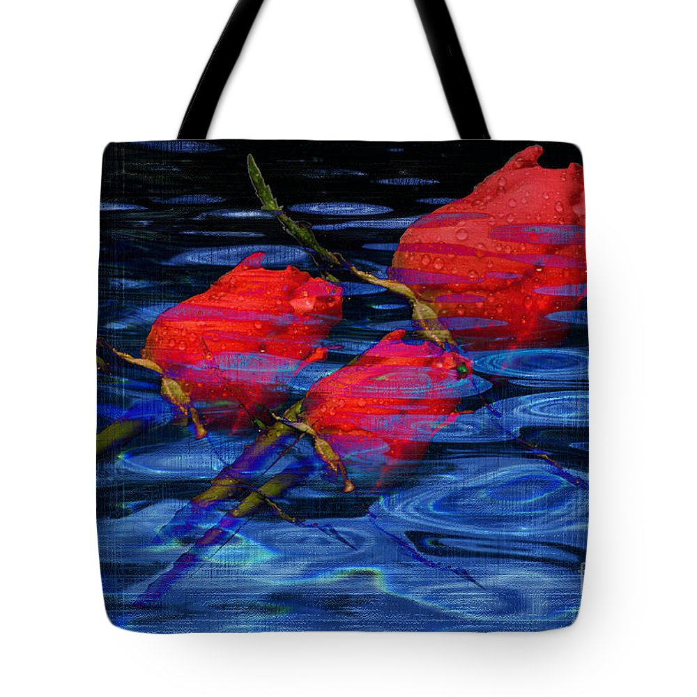 Rose Image Tote Bag featuring the digital art Be Mine by Yael VanGruber