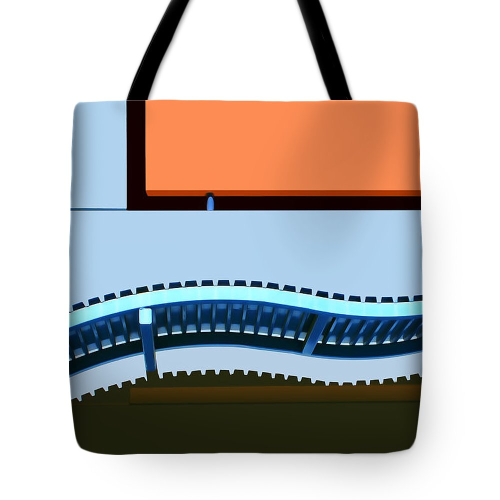 Blue And Orange Tote Bag featuring the photograph Blue And Orange by Nikolyn McDonald