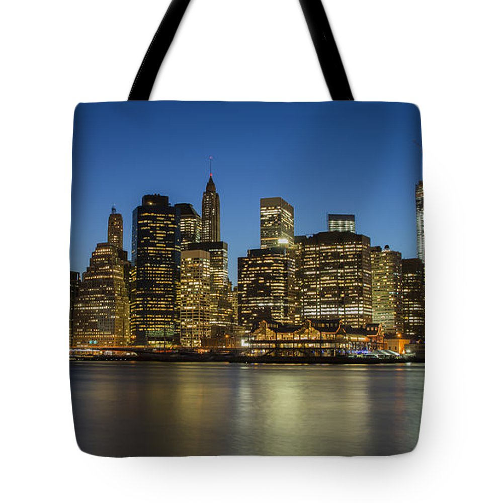 Freedom Tower Tote Bag featuring the photograph Bright Lights Big City by Theodore Jones