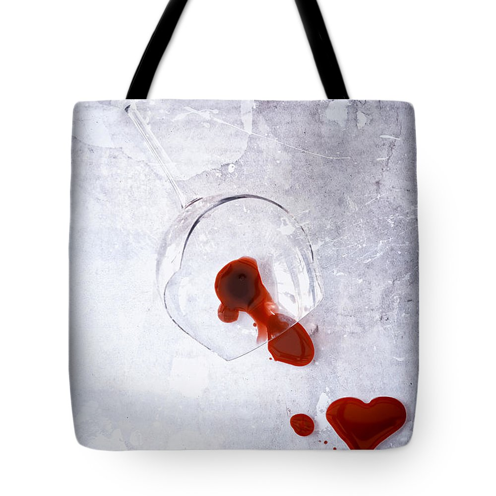 Heart Tote Bag featuring the photograph Broken Glass by Joana Kruse