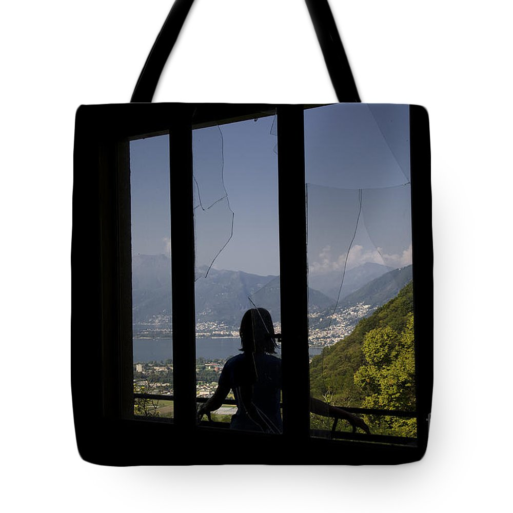 Window Tote Bag featuring the photograph Broken Window by Mats Silvan