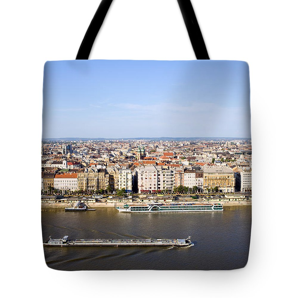 Budapest Tote Bag featuring the photograph Budapest Cityscape by Artur Bogacki