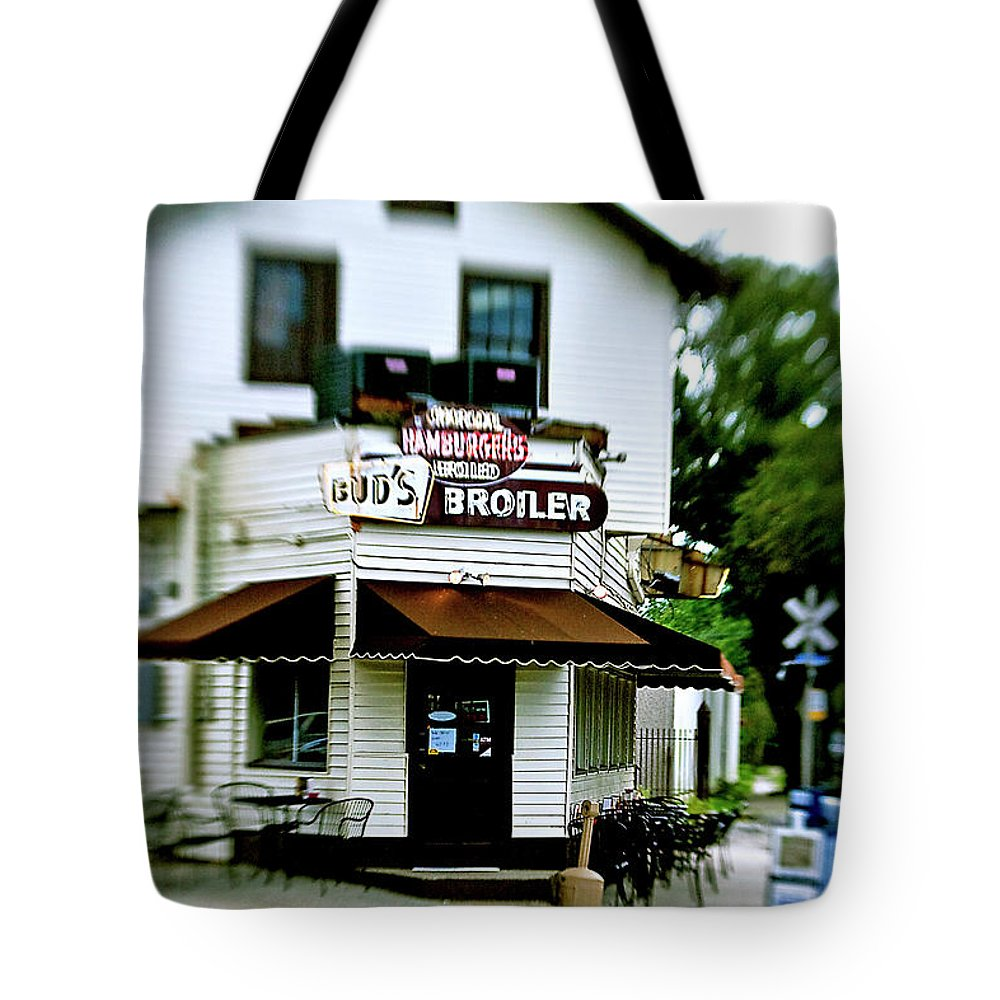 Lensbaby Tote Bag featuring the photograph Bud's by Scott Pellegrin