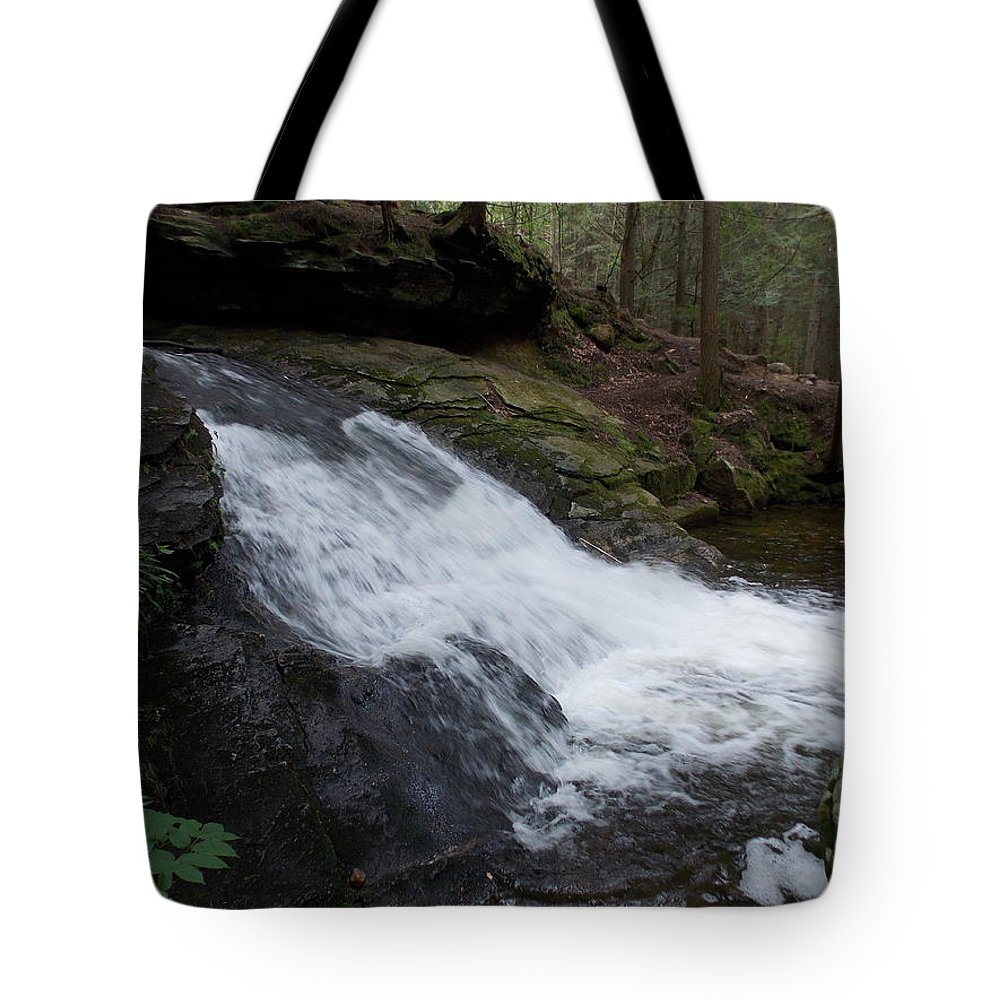 Buffam Falls Tote Bag featuring the photograph Buffam Falls Lower Cascade by Catherine Gagne