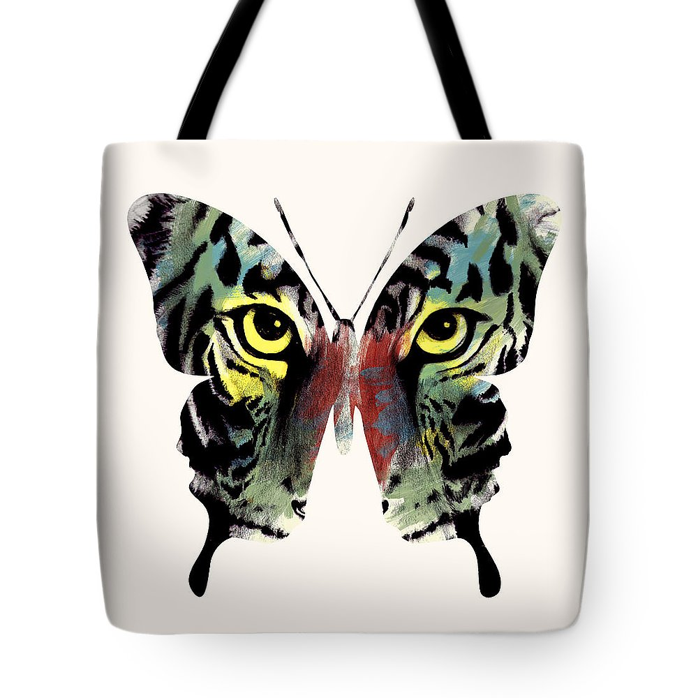 Butterfly Tote Bag featuring the digital art Butterfly 2 by Mark Ashkenazi