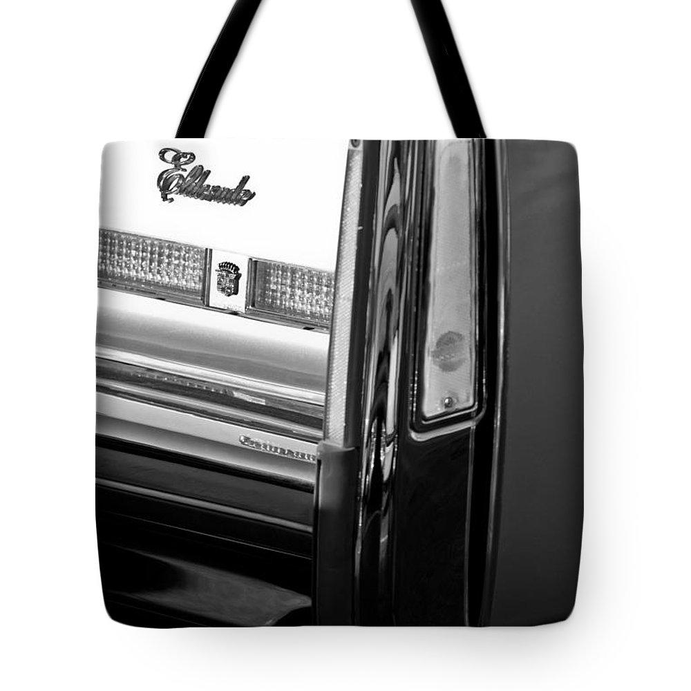 Cadillac Eldorado Taillights Tote Bag featuring the photograph Cadillac Eldorado Taillights by Jill Reger