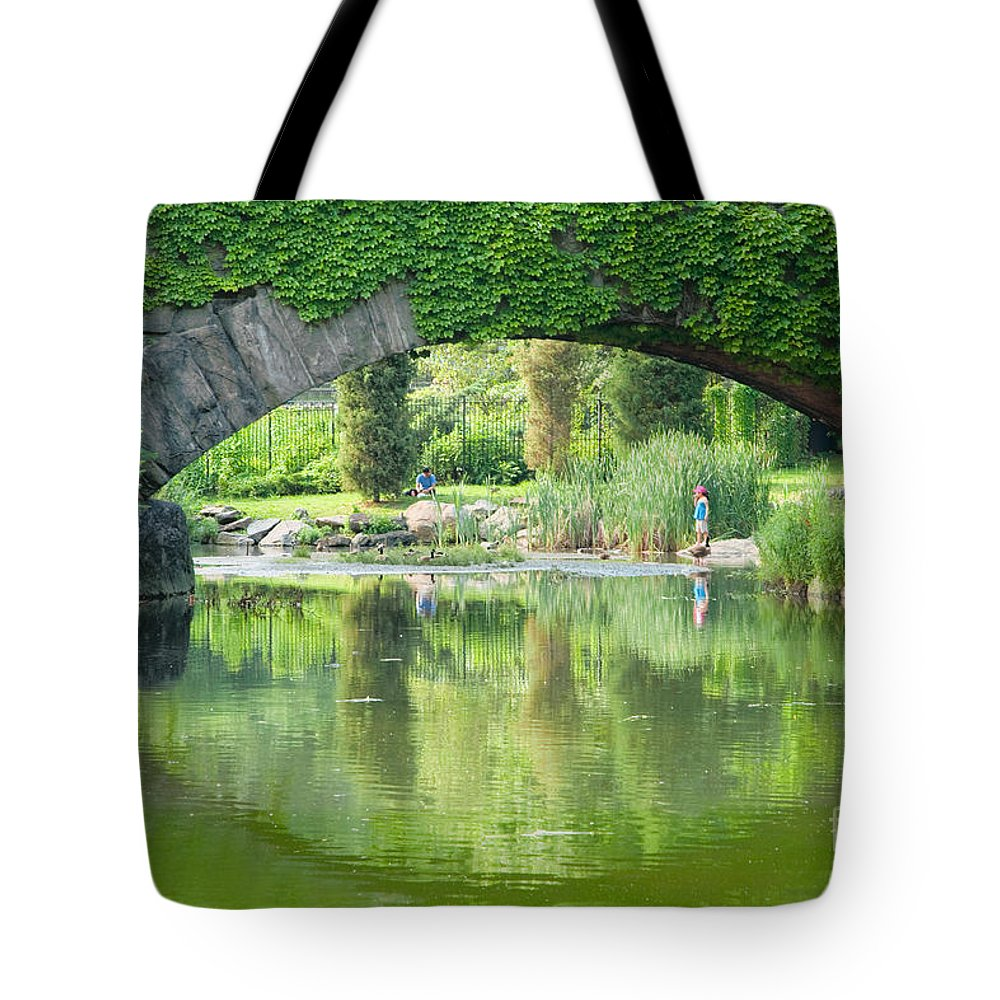 Central Park Tote Bag featuring the photograph Central Park Gapstow Bridge II by Regina Geoghan
