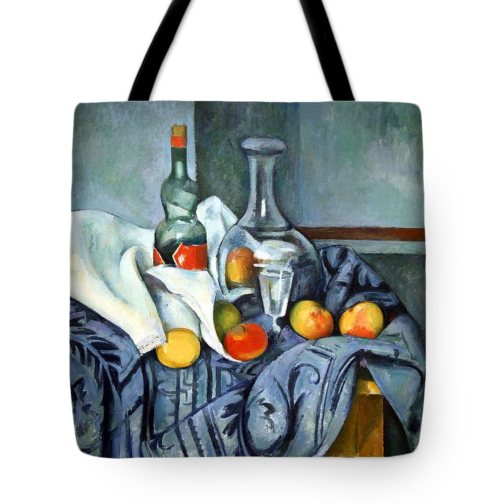 The Peppermint Bottle Tote Bag featuring the photograph Cezanne's The Peppermint Bottle by Cora Wandel