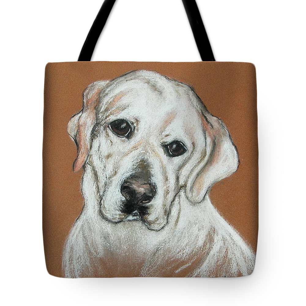 Labrador Tote Bag featuring the drawing Chloe by Cori Solomon