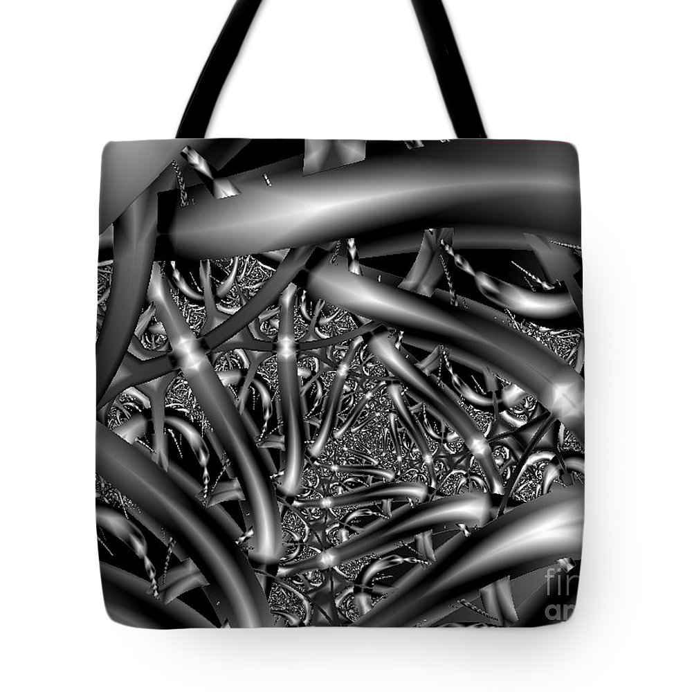 2-dimensional Tote Bag featuring the digital art Choices Roads N Attitudes by Dana Haynes