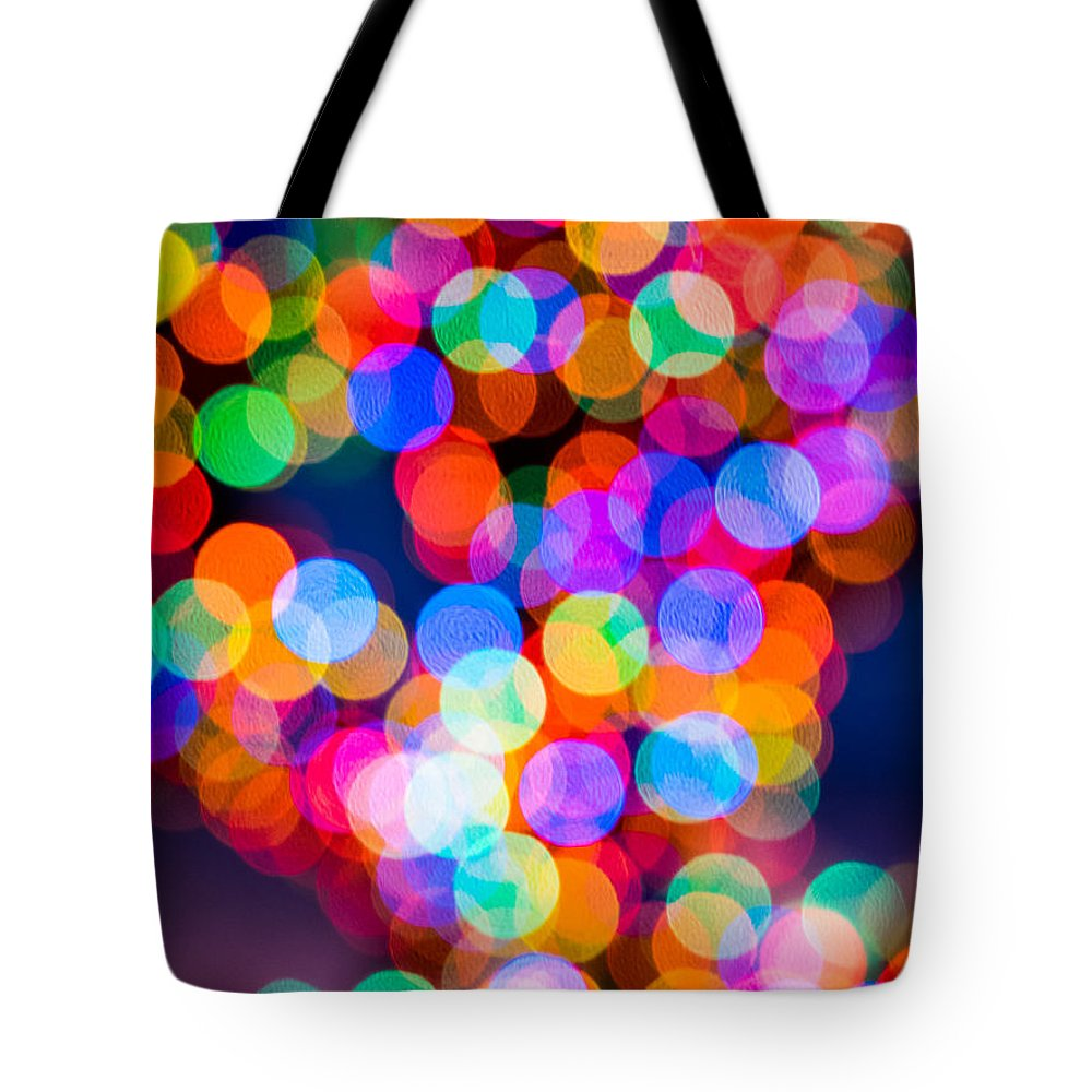 Lights Tote Bag featuring the photograph Christmas Lights by David Kay