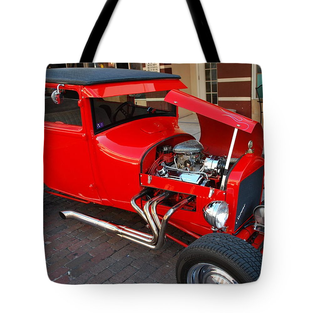 Downtown Ft.myers Tote Bag featuring the photograph Classic Custom Hotrod by Robert Floyd