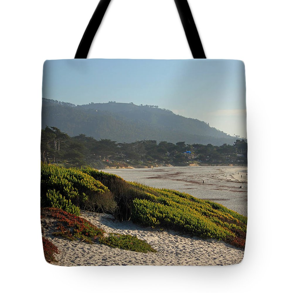 Coast Tote Bag featuring the photograph Coastal View - Ice Plant by Suzanne Gaff