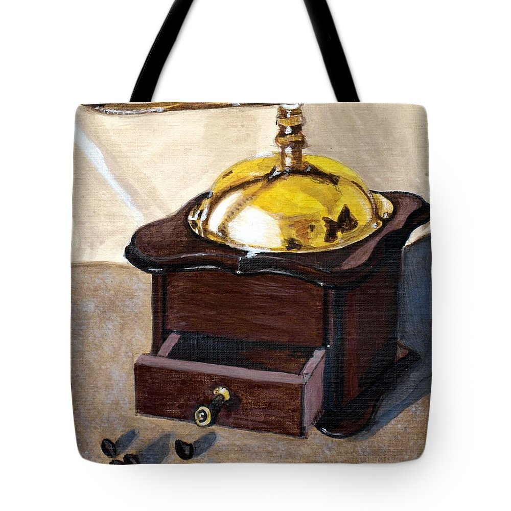 Coffee Tote Bag featuring the painting Coffee by Vera Lysenko