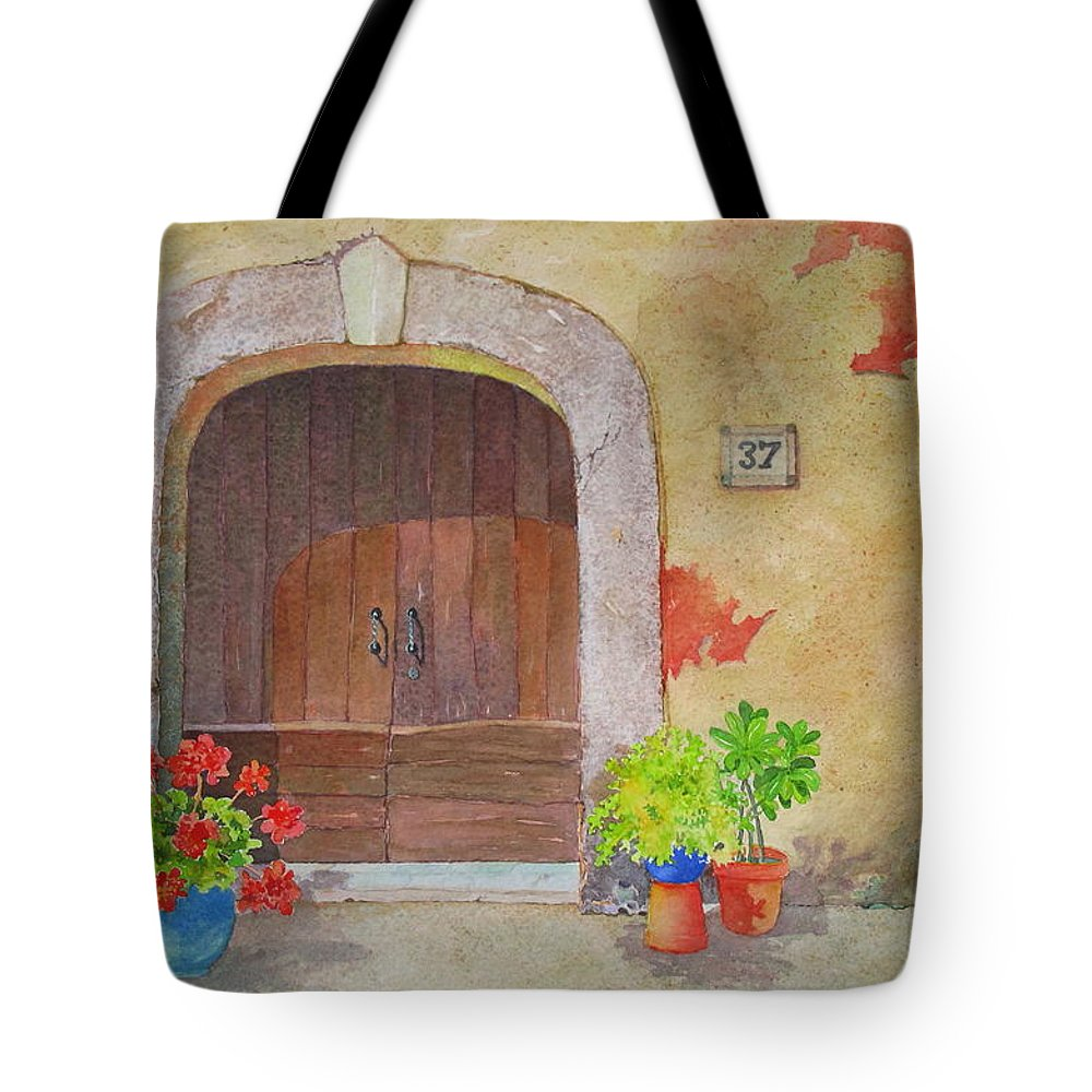 Tuscany Tote Bag featuring the painting Color Me Tuscany by Mary Ellen Mueller Legault