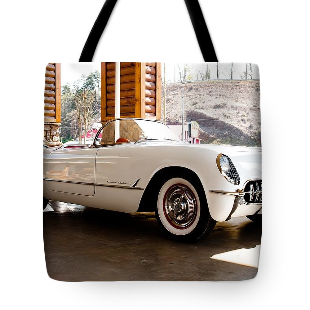 Corvette Tote Bag featuring the photograph Corvette by Robert L Jackson