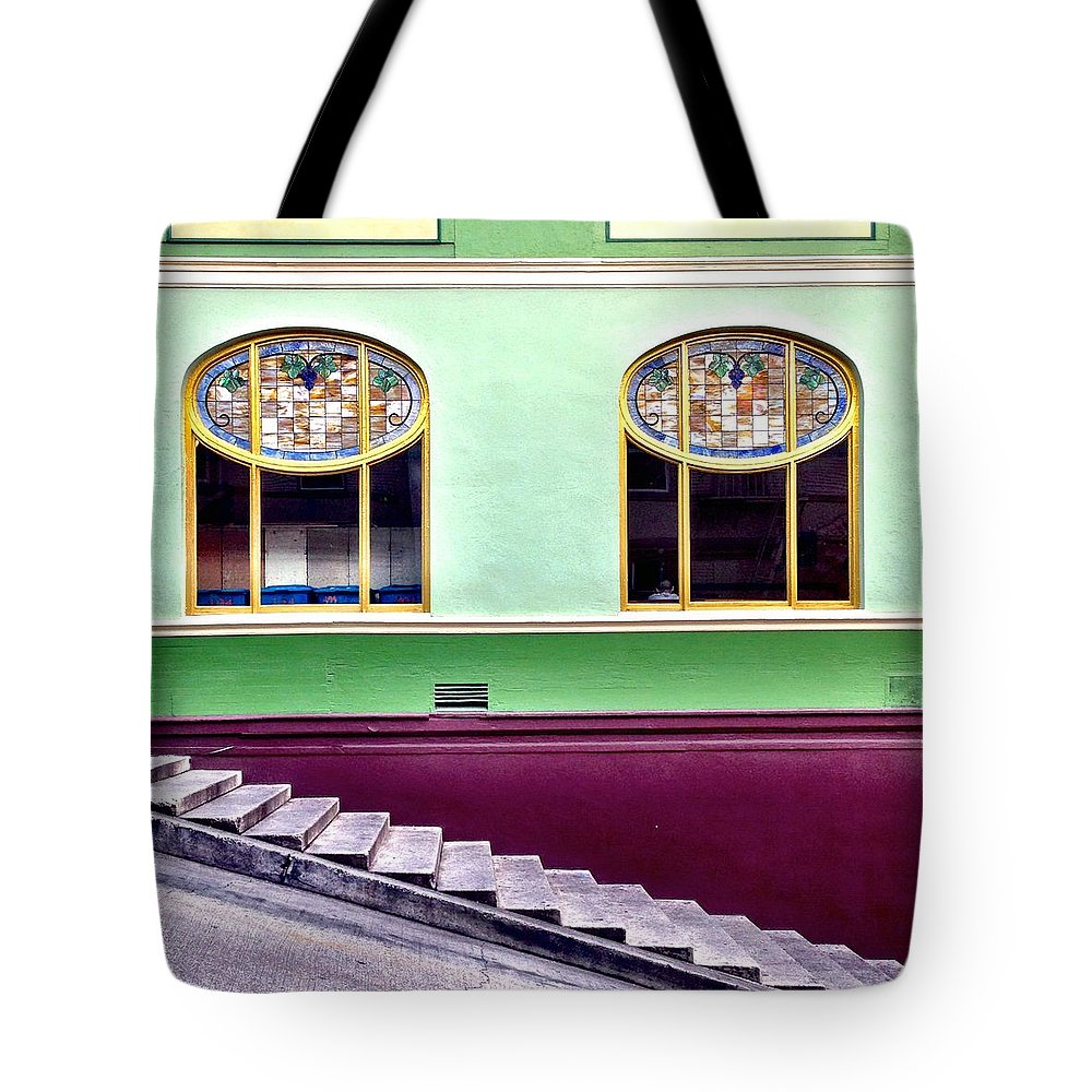 Stairs Tote Bags