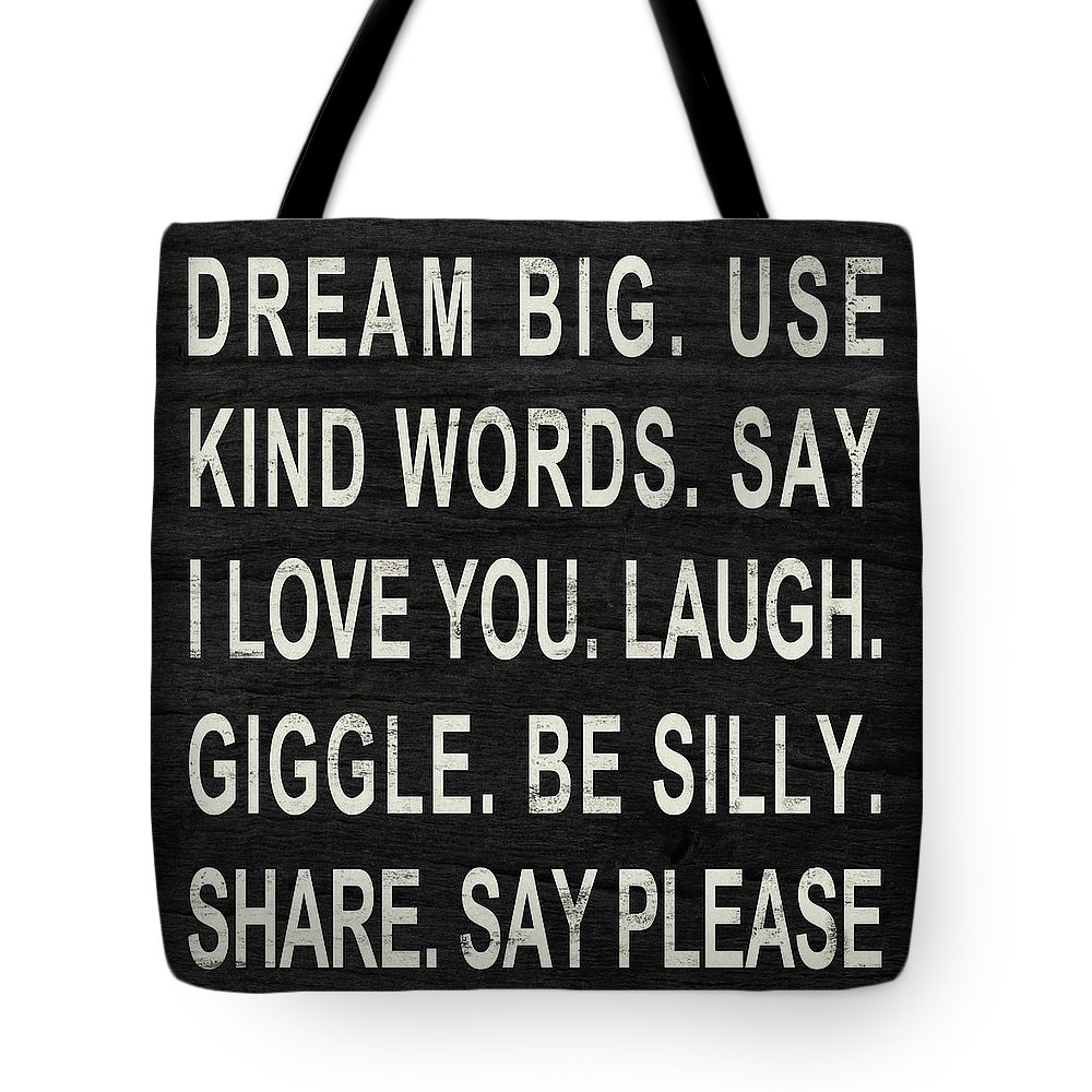 Dream Tote Bag featuring the digital art Dream Big by South Social Studio
