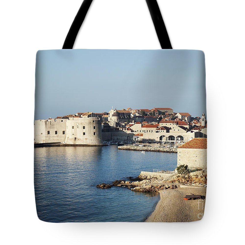 Adriatic Tote Bag featuring the photograph Dubrovnik In Croatia by JM Travel Photography