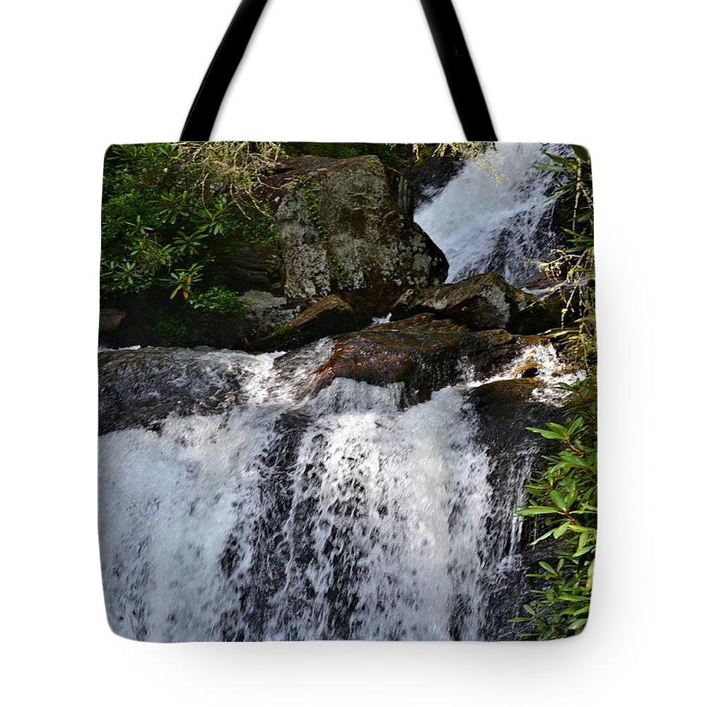 Dukes Creek Falls Tote Bag featuring the photograph Dukes Creek Falls by Tara Potts
