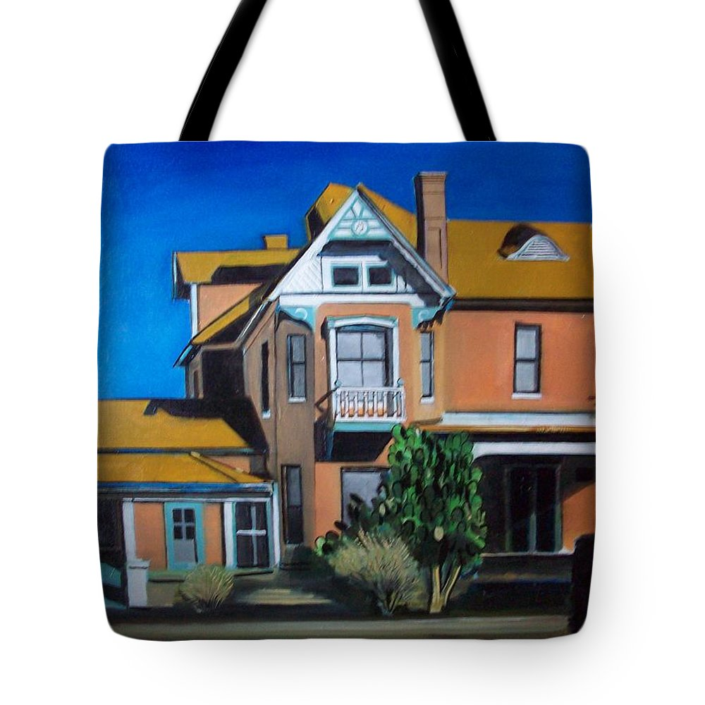 Tote Bag featuring the painting Dwelling by Jude Darrien
