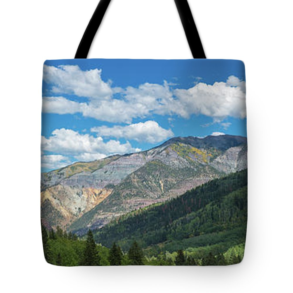 Photography Tote Bag featuring the photograph Elevated View Of Trees On Landscape by Panoramic Images
