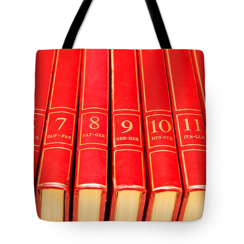 Academic Tote Bag featuring the photograph Encyclopedia by Tom Gowanlock