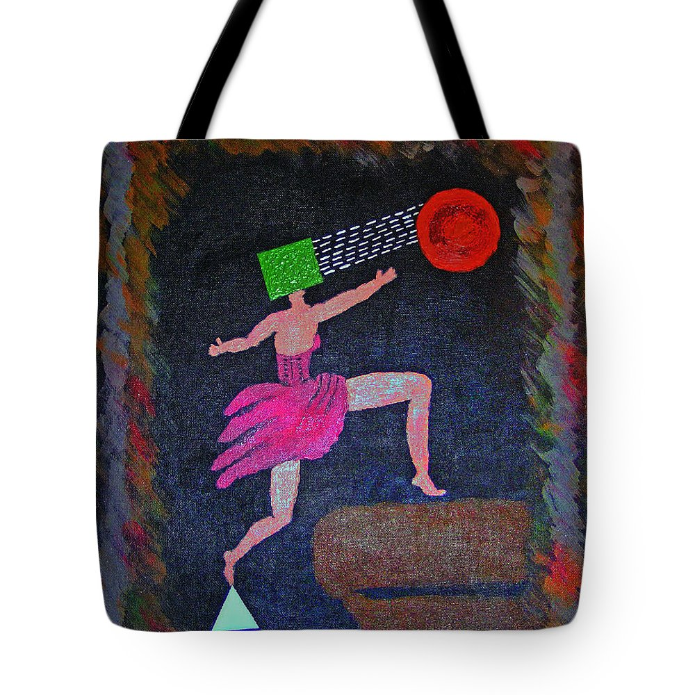Surrealism Tote Bag featuring the painting Focus by Robyn Louisell