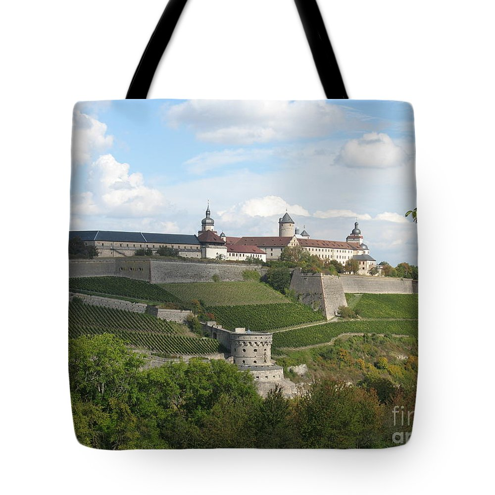 Fort Tote Bag featuring the photograph Fortress Marienberg - Wuerzburg - Germany by Christiane Schulze Art And Photography