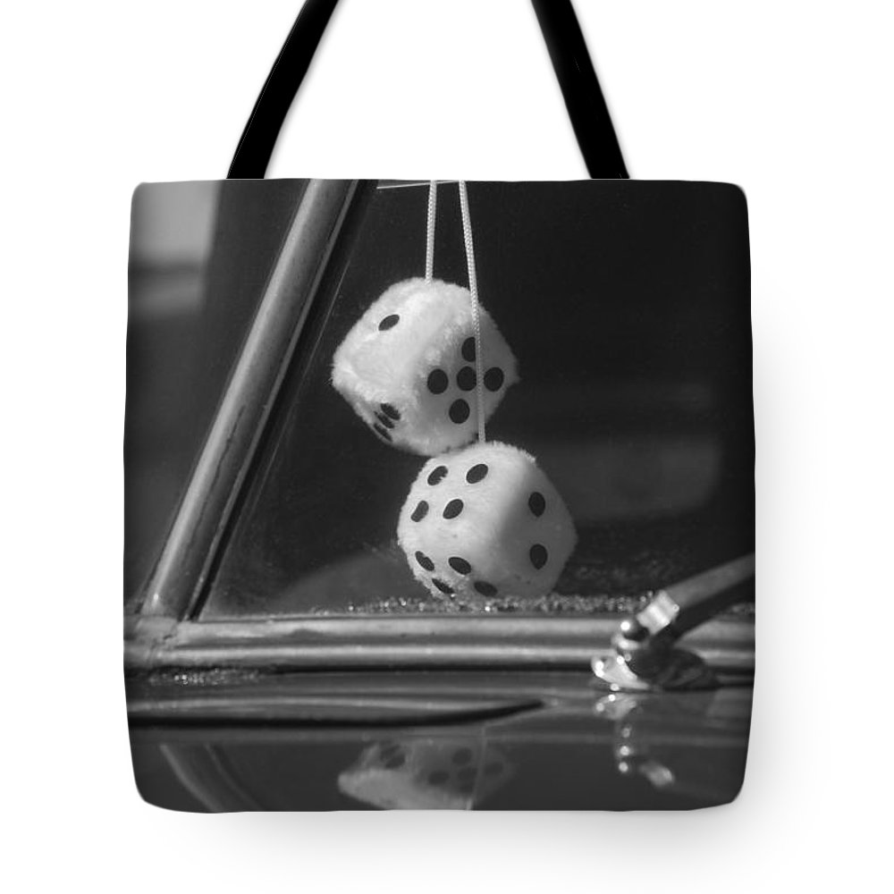Fuzzy Dice Tote Bag featuring the photograph Fuzzy Dice by Jill Reger