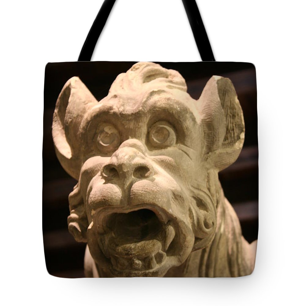 Gargole Tote Bag featuring the photograph Gargoyle by Christiane Schulze Art And Photography