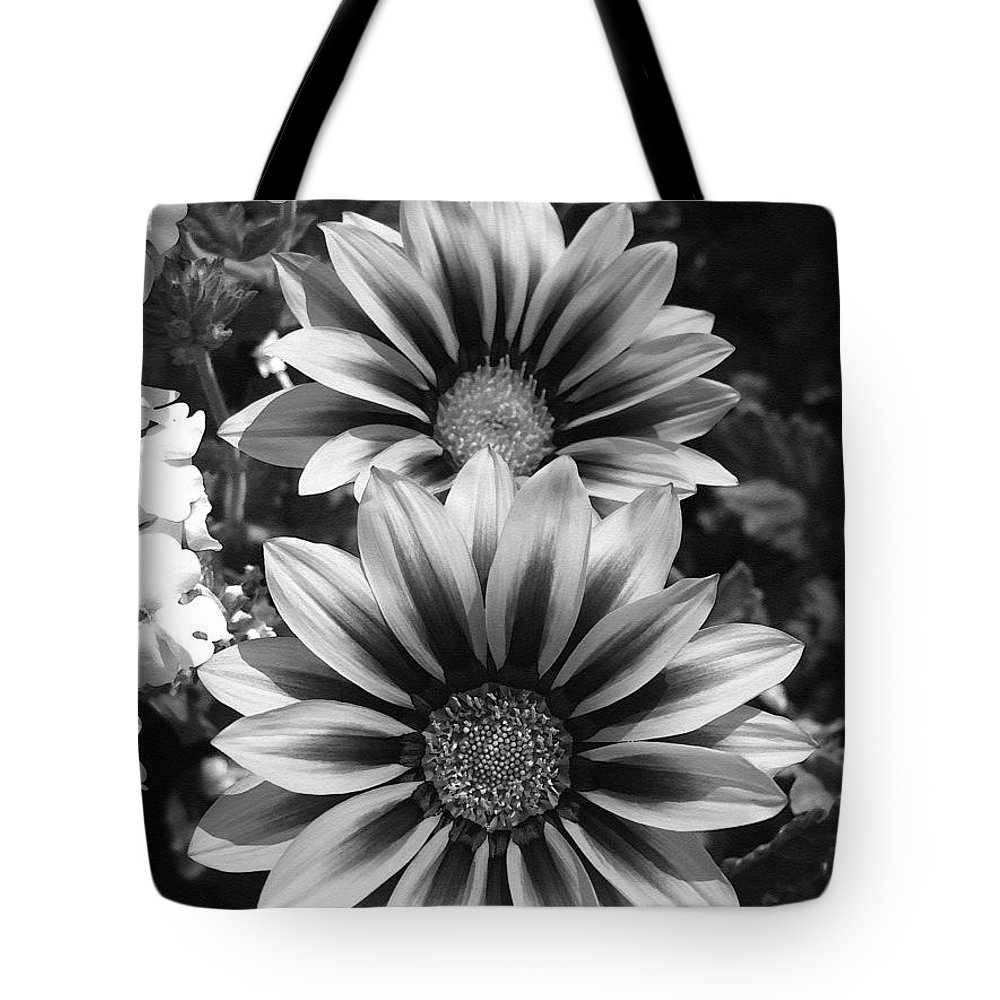 Mccombie Tote Bag featuring the painting Gazania Named Kiss Yellow Flame by J McCombie