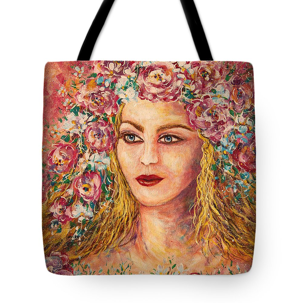 Goddess Tote Bag featuring the painting Good Fortune Goddess by Natalie Holland