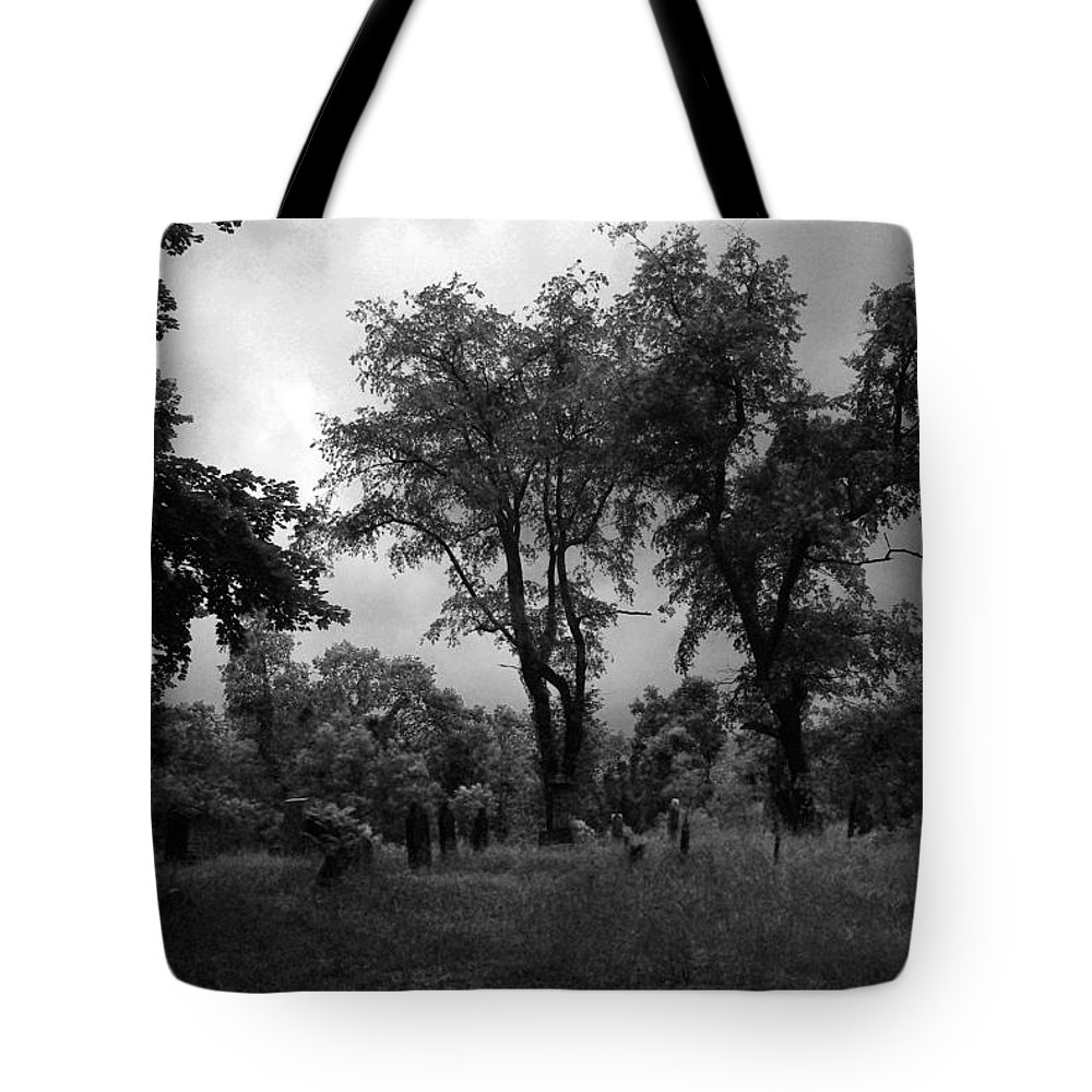 Graveyard Tote Bag featuring the photograph Graveyard 1 by Joyce Wasser