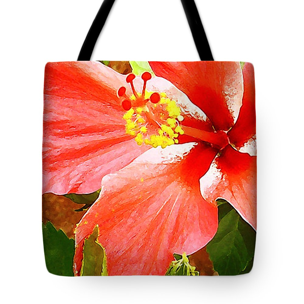 Hibiscus Tote Bag featuring the photograph Happy Hibiscus by James Temple