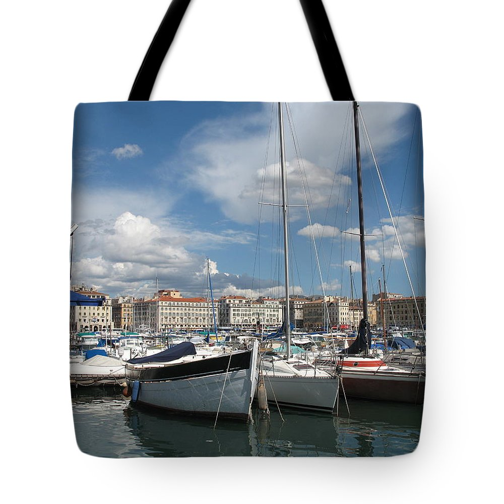 Harbor Tote Bag featuring the photograph Harbor Marseille by Christiane Schulze Art And Photography