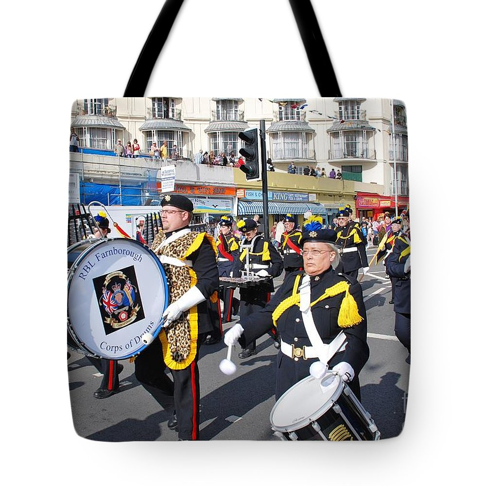 Drums Tote Bag featuring the photograph Hastings Old Town Carnival by David Fowler